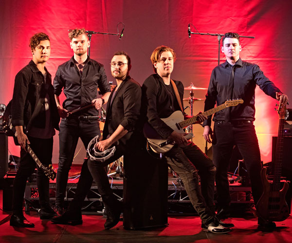 Stomp Rock Band Hire Redtie Band